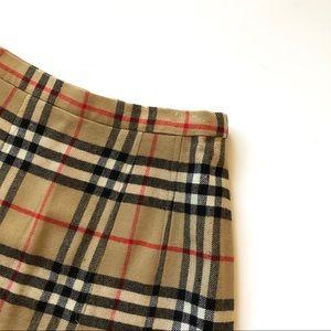 Burberry Iconic Plaid Midi Skirt  - 6 long